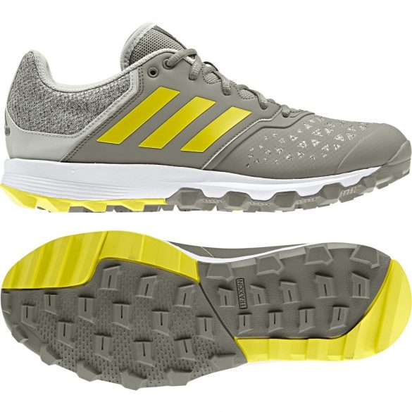 ADIDAS FLEX CLOUD 18/19 GREY/YELLOW KÜLTÉRI GYEPLABDA CIPŐ