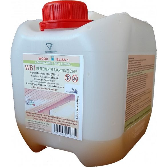 WOODBLISS megszüntető faanyagvédőszer MASID 0,75 liter koncentrátum (3 liter késztermékhez)